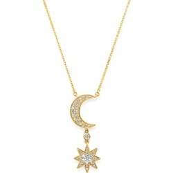 Bloomingdale's Diamond Moon & Starburst Pendant Necklace in 14K Yellow Gold, 0.50 ct. t.w. - 100% Exclusive found on Bargain Bro UK from Bloomingdales UK
