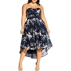 City Chic Plus Aphrodite Strapless Floral-Embroidered Dress found on Bargain Bro India from bloomingdales.com for $189.00