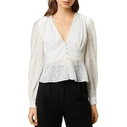 French Connection Brenna Fil Coupe V-Neck Top found on Bargain Bro UK from Bloomingdales UK