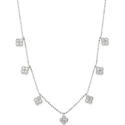 Bloomingdale's Diamond Clover Station Necklace in 14K White Gold, 1.0 ct. t.w. - 100% Exclusive found on Bargain Bro UK from Bloomingdales UK