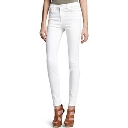 J Brand Maria High-Rise Skinny Jeans in Blanc found on MODAPINS from Bloomingdale's Australia for USD $139.89