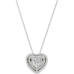 Bloomingdale's Diamond Halo Heart Pendant Necklace in 14K White Gold, 1.0 ct. t.w. - 100% Exclusive found on Bargain Bro UK from Bloomingdales UK