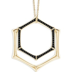 Natori 14K Yellow Gold Black Diamond Double Hexagon Pendant Necklace, 14-17 found on Bargain Bro India from bloomingdales.com for $4950.00
