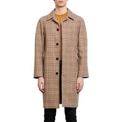 Sandro Carnaby Plaid Trench Coat