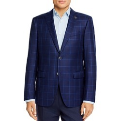 John Varvatos Star Usa Bleecker Windowpane Plaid Slim Fit Sport Coat