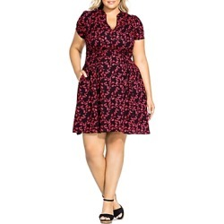 City Chic Plus Short-Sleeve Floral-Print Dress found on Bargain Bro India from bloomingdales.com for $109.00