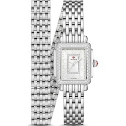 Michele Deco Madison Mini Stainless Steel Diamond Watch, 22mm x 35mm found on MODAPINS from bloomingdales.com for USD $2295.00