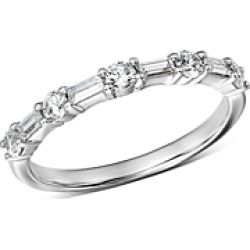 Bloomingdale's Diamond Baguette & Round Band in 14K White Gold, 0.50 ct. t.w. - 100% Exclusive found on Bargain Bro UK from Bloomingdales UK