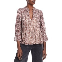 Velvet by Graham & Spencer Wilona Printed Pintucked Blouse found on Bargain Bro from Bloomingdales Canada for USD $105.42