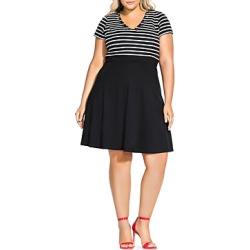 City Chic Plus Sailor Stripe Combo Dress found on MODAPINS from bloomingdales.com for USD $29.63