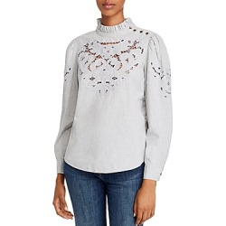 La Vie Rebecca Taylor Leah Embroidered Eyelet Top found on Bargain Bro Philippines from bloomingdales.com for $275.00