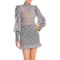 Bec and Bridge Nadine Ruffled Checked Mini Dress found on MODAPINS from bloomingdales.com for USD $113.93