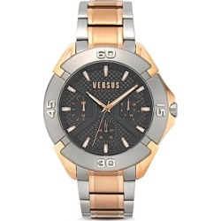 Versus Versace Versus Rue Oberkampf Rose Gold & Silver Tone Link Bracelet Watch, 46mm found on Bargain Bro Philippines from Bloomingdale's Australia for $210.37