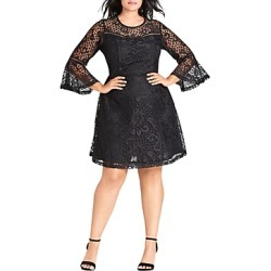 City Chic Plus Gypsy Bell-Sleeve Lace Dress found on MODAPINS from bloomingdales.com for USD $119.00