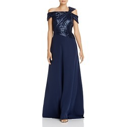 Tadashi Shoji One-Shoulder Sequin Bodice Gown found on Bargain Bro India from Bloomingdale's Australia for $213.55