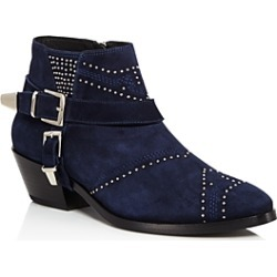 Anine Bing Women's Bianca Studded Suede Mid Heel Booties found on MODAPINS from bloomingdales.com for USD $279.60