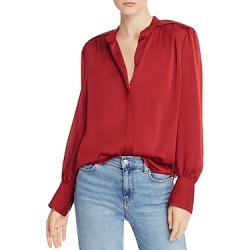Equipment Garion Patched Shoulder Blouse found on Bargain Bro UK from Bloomingdales UK