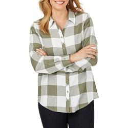 Foxcroft Rhea Buffalo-Plaid Shirt