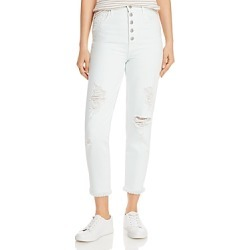 J Brand Heather Ripped Button-Fly Jeans in Hydrosphere Destruct found on MODAPINS from Bloomingdale's Australia for USD $119.65