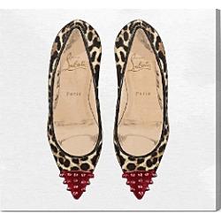 Oliver Gal Studded Leopard Heels Wall Art, 16 x 16