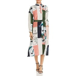 Tory Burch Patchwork Silk Shirt Dress found on MODAPINS from Bloomingdales UK for USD $632.69