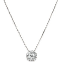 Bloomingdale's Diamond Halo Pendant Necklace in 14K White Gold, 0.50 ct. t.w. - 1005 Exclusive found on Bargain Bro UK from Bloomingdales UK