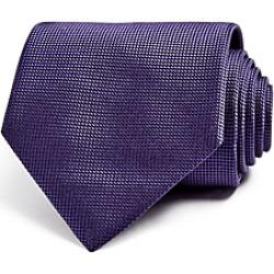 Ermenegildo Zegna Micro Check Textured Classic Tie