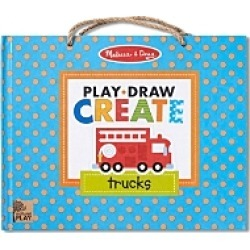 Melissa & Doug Play, Draw, Create Trucks