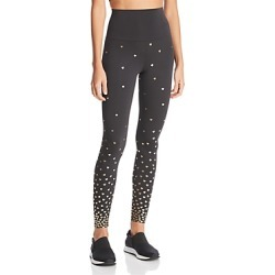 Beach Riot Metallic Heart Print Leggings - 100% Exclusive found on MODAPINS from bloomingdales.com for USD $99.00