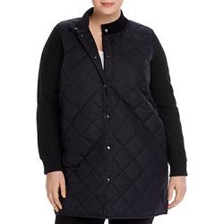 Eileen Fisher Plus Parka-Sweater Combo Coat