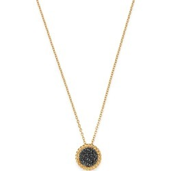 Bloomingdale's Black Diamond Disc Pendant Necklace in 14K Yellow Gold, 0.2 ct. t.w. - 100% Exclusive found on Bargain Bro India from bloomingdales.com for $1200.00