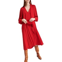 Barbara Bui Pleated Silk Double Georgette Midi Dress found on MODAPINS from Bloomingdales UK for USD $1964.32