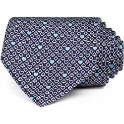 Salvatore Ferragamo Heart Card Suit Silk Classic Tie found on Bargain Bro India from Bloomingdales Canada for $200.13