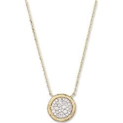 Pave Diamond Circle Pendant Necklace in 14K Yellow Gold, 0.35 ct. t.w. - 100% Exclusive found on Bargain Bro UK from Bloomingdales UK