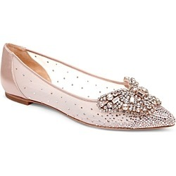 Badgley Mischka Women's Quinn Crystal Embellished Pointed Toe Flats found on Bargain Bro Philippines from bloomingdales.com for $148.50