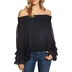 CeCe by Cynthia Steffe Smocked Off-the-Shoulder Blouse found on Bargain Bro UK from Bloomingdales UK