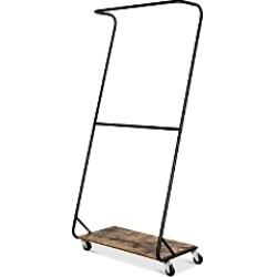 Honey Can Do Rustic Z-Frame Double Bar Garment Rack