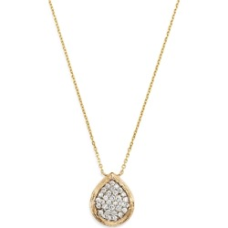 Bloomingdale's Pave Diamond Teardrop Pendant Necklace in Textured 14K Yellow Gold, 0.50 ct. t.w. - 100% Exclusive found on Bargain Bro UK from Bloomingdales UK