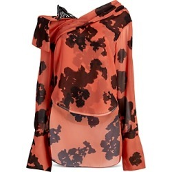 Hellessy Stellars Abstract Print Cold Shoulder Top found on MODAPINS from bloomingdales.com for USD $328.00