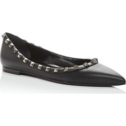 Valentino Garavani Women's Rockstud Pointed-Toe Flats found on Bargain Bro India from bloomingdales.com for $775.00