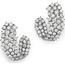 Bloomingdale's Diamond Front-to-Back Earrings in 14K White Gold, 2.85 ct. t.w. - 100% Exclusive found on Bargain Bro UK from Bloomingdales UK