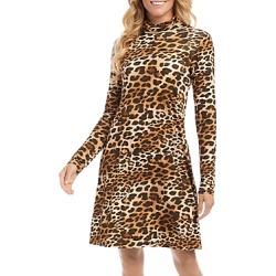 Karen Kane Quinn Turtleneck Leopard Print Dress found on Bargain Bro from Bloomingdales Canada for USD $71.39