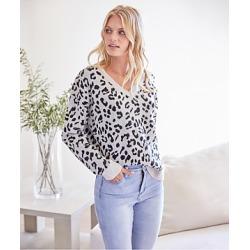 Karen Kane Cheetah Jacquard Sweater found on MODAPINS from Bloomingdales UK for USD $93.63