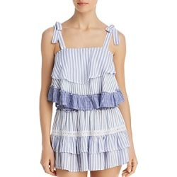Surf Gypsy Striped Combo Ruffle Tank Top Swim Cover-Up found on Bargain Bro Philippines from Bloomingdales Canada for $67.43