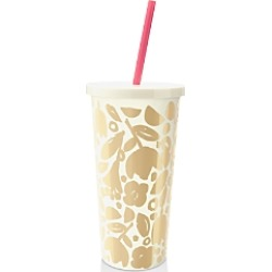 kate spade new york Golden Floral Tumbler with Straw found on Bargain Bro Philippines from Bloomingdales Canada for $18.80
