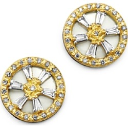 Armenta 18K Yellow Gold & Blackened Sterling Silver Old World Crivelli White Sapphire & Champagne Diamond Stud Earrings found on Bargain Bro India from Bloomingdales Canada for $940.36