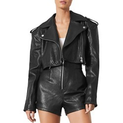 Grlfrnd Samara Cropped Leather Moto Jacket found on MODAPINS from Bloomingdales Canada for USD $737.49