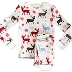 Pj Salvage Girls' Moose Print Tee & Pants Pajama Set - Little Kid, Big Kid