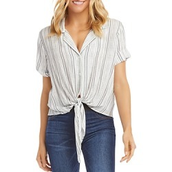 Karen Kane Roll-Sleeve Tie-Front Top found on Bargain Bro Philippines from bloomingdales.com for $109.00