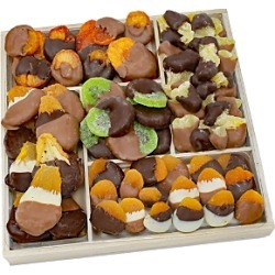 Chocolate Covered Company Deluxe Belgian Chocolate Dipped Dried Fruit Tray